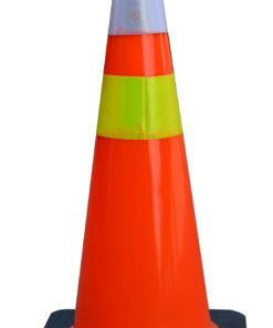 Pembatas Jalan Raya Traffic Cone PVC Black Base 70 Cm
