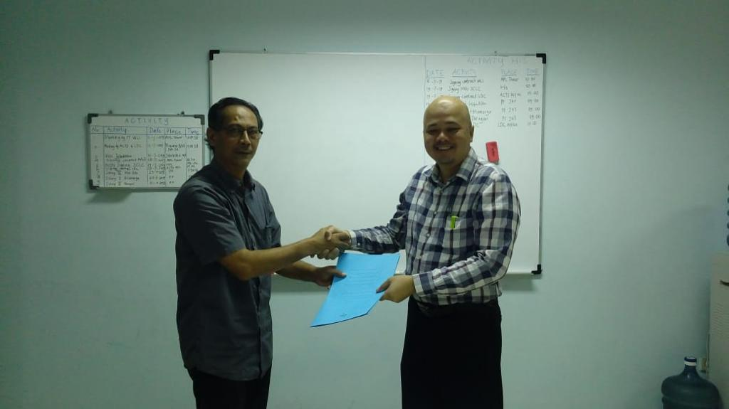 Penandatanganan MOU Kerjasama Antara HISConsulting dan SCLC (Supply Chain Logistics Center), Tgl 19 Juli 2019