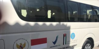 Indonesia gives medical vehicle for Palestine