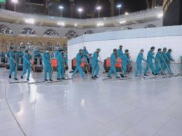 3,500 workers, 89 machines sterilize Grand Mosque daily