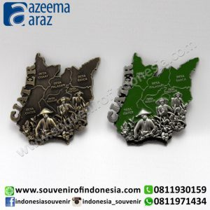 Souvenir Indonesia Magnet Logam Ciater West Java (West Java Souvenir: Ciater Indonesia Metal Fridge Magnet)