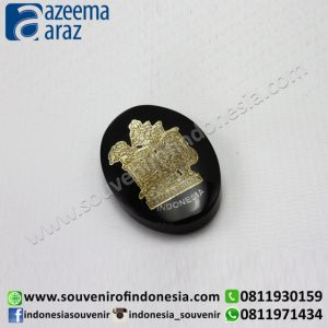 Souvenir Indonesia Magnet Wayang Resin Hitam (Black Fiber Puppet Fridge Magnet)