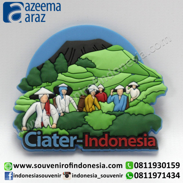 Souvenir Magnet Karet Ciater Indonesia (Ciater Indonesia Rubber Fridge Magnet)