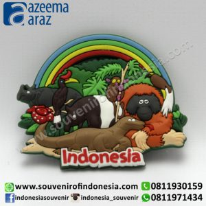 Souvenir Magnet Karet Fauna Indonesia (Indonesia Fauna Rubber Fridge Magnet)