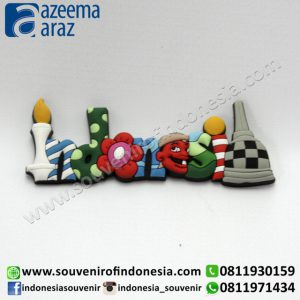 Souvenir Magnet Karet Indonesia Ceria (Indonesia Cute Rubber Fridge Magnet)