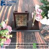 Souvenir Indonesia Pen Holder Kayu Eksklusif Batik (Batik Indonesia Wooden ExclusivePen Holder)2