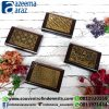 Souvenir Indonesia Tempat Kartu Nama Oval Kayu Eksklusif Batik (Batik Indonesia Wooden Exclusive Oval Name Card Holder Holder)