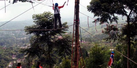 paket wisata halimun camping ground puncak highland highropes